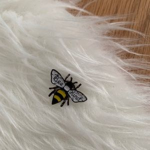 Bee Kind Enamel Pin (silver color)